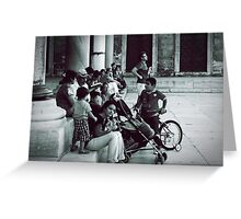 Waiting in the garden of Blue Mosque. Greeting Card