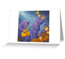 Cool Jazz Trio Greeting Card