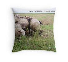 Count Your Blessings... Throw Pillow