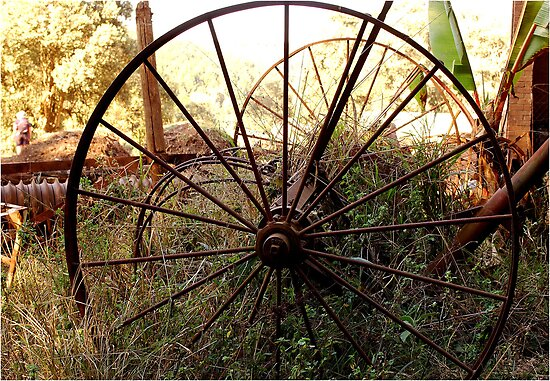 #SERIES WEGRAAKBOSCH -OLD FORGOTTON FARM IMPLEMENTS - Limpopo Province, South Africa by Magaret Meintjes