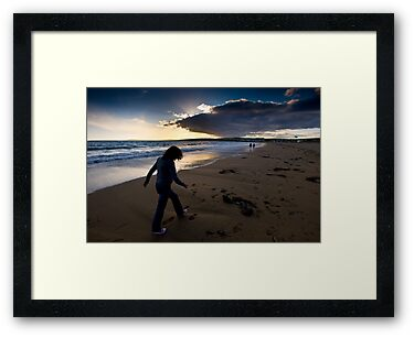 Sunset Walk On Garretstown Beach  by rorycobbe