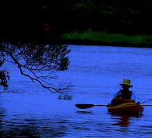 Inland fishing at dusk by Sharksladie
