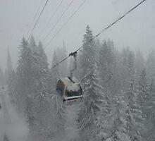 Tramcar to Mt. Titlus, Switzerland by muddylilac