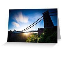 Clifton Suspension Bridge - Bristol - England Greeting Card