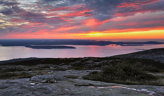 Sunrise, Cadillac Mountain by Stephen Vecchiotti
