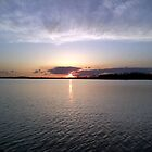 Sunset on The lake by ebred