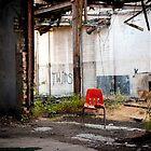 Orange Chair by Sam Scholes