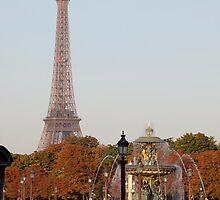Eifel Tower at Place de la Concorde by Alexander Davydov