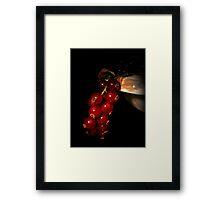 Fruity red Framed Print
