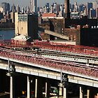 Brooklyn Industrial Manhattan Skyline by Jane McDougall