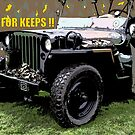 """JEEP FOR KEEPS""Comic Strip Jeep by Dawnsuzanne"