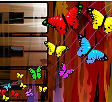 beautiful and colourful butterflies by tillydesign