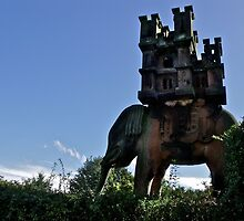 Elephant & Castle Statue, Peckforton, Cheshire by flowingenglish