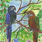 Jungle Parrots by farmkitties