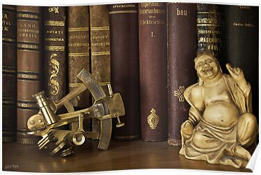 Sextant and Smiling Buddah by Luisa Fumi