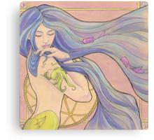 Tattooed Mermaid 1 Canvas Print