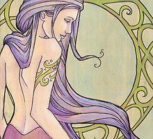Tattooed Mermaid 3 by Karen  Hallion