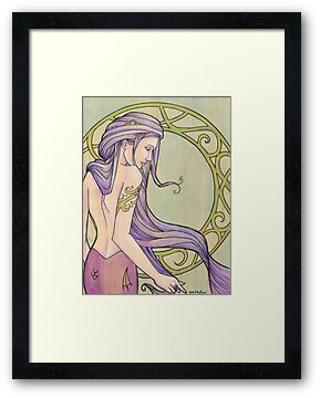 Tattooed Mermaid 3 by Karen  Hallion
