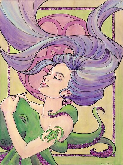 Tattooed Mermaid 9 by Karen  Hallion
