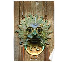The Sanctuary Knocker, Durham Cathedral Poster