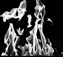 Dancing Flames (B&W) by Valerie Rosen