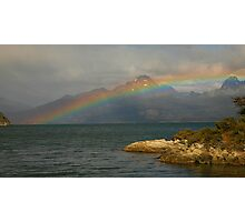 Rainbow at the End of the World Photographic Print