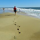 Footprints in the Sand by Mindy Miller