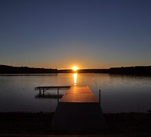Sunset over Bear Creek Lake by Debra Fedchin