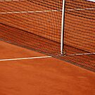 Tennis clay court with net by InfotronTof