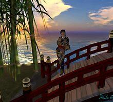 Water and Bridge #1  水および橋 by Marla Louise