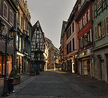 Evening lights in Colmar by Béla Török