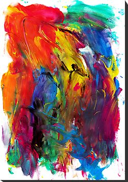 Abstract Rainbow Joy by Ellen Jones