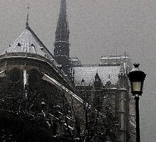 Notre Dame sous une pluie de Pixels by djjs
