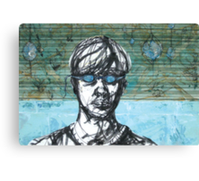 Dive In - Self Portrait with Goggles Canvas Print