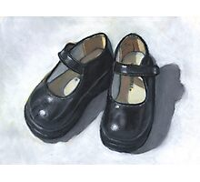 Rebecca's Little Black Shoes Photographic Print