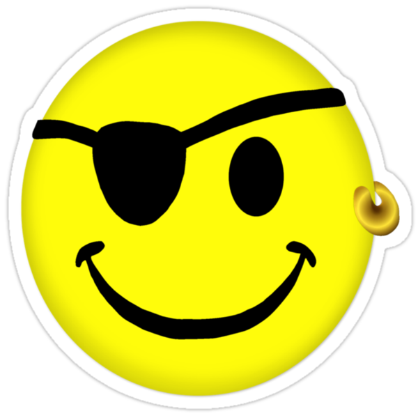 Pirate Smiley by Linda Allan
