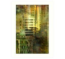 """As the sun goes down"" San Francisco Art Print"