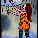 Girl Welcoming Rain by TangerineMeg