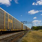 Beautiful skies and trains by ZASlothower