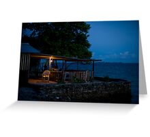 the Cafe, Jabor, Jaluit, Marshall Islands Greeting Card