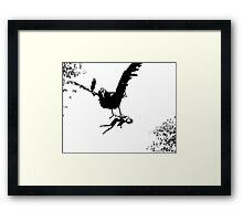 Barbie Carried Away By Monsterbird Framed Print