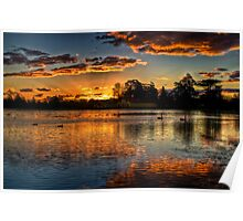 Sunset over Lake Wendouree Poster