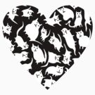 Crazy Cat Heart (Tee) by Carla Martell