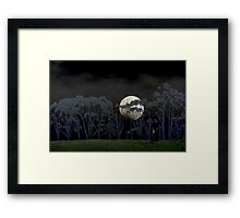 On the rim of the hill, In the chill, still, of the night  Framed Print