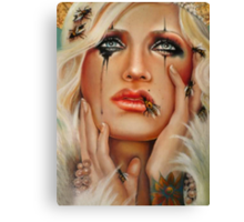 Queen B and The Little Pricks (close up) Canvas Print