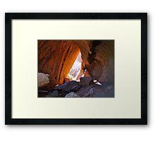 Uluru - Mala Puta (Wave Cave) Framed Print