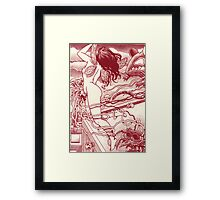 Another nightmare, another page,... the leap! Framed Print