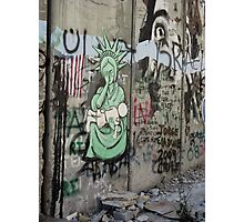 Graffiti - The West Bank Separation Wall, Palestine Photographic Print
