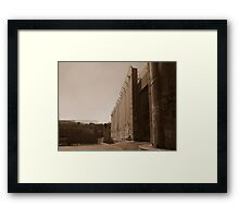 The West Bank Separation Wall, Palestine Framed Print