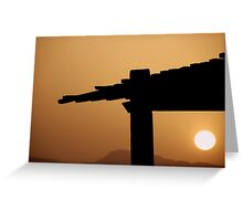 Red Sea Sunset, Jordan Greeting Card